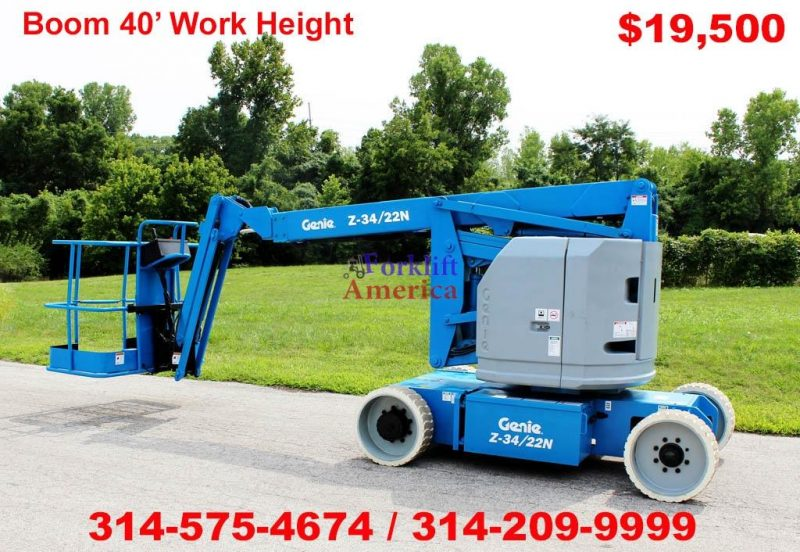 used-electric-genie-z-34-22n-articulating-boom-lift